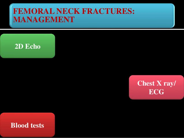FEMORAL NECK FRACTURES: MANAGEMENT Head of Femur : Precarious blood supply – Injury or fracture damages blood supply Avasc...