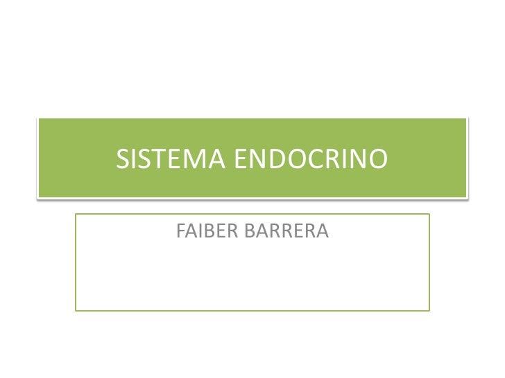 SISTEMA ENDOCRINO<br />FAIBER BARRERA<br />