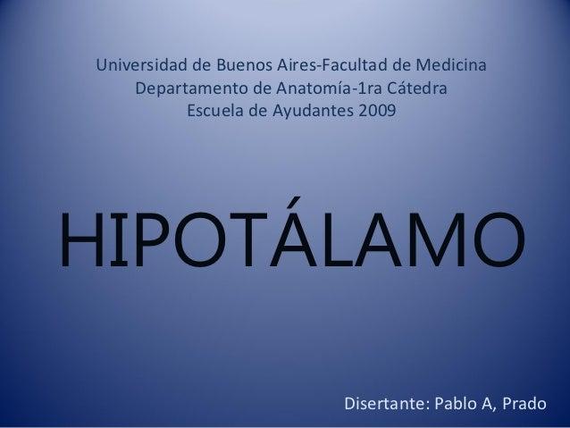 Universidad de Buenos Aires-Facultad de Medicina    Departamento de Anatomía-1ra Cátedra           Escuela de Ayudantes 20...