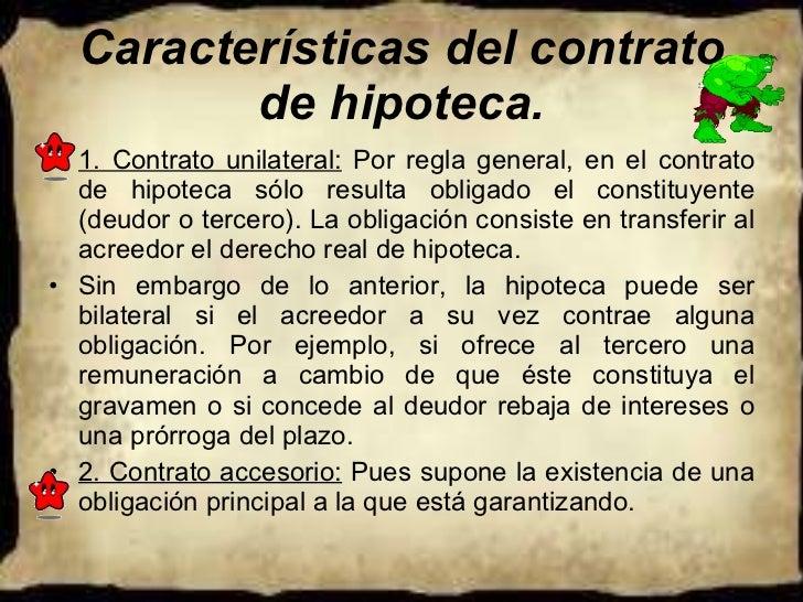 Hipoteca for Contrato de hipoteca