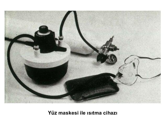 Yüz maskesi ile ısıtma cihazı