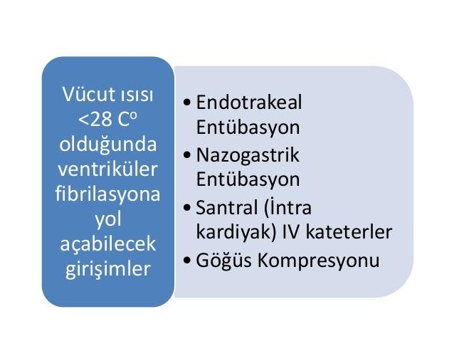 •Endotrakeal Entübasyon •Nazogastrik Entübasyon •Santral (İntra kardiyak) IV kateterler •Göğüs Kompresyonu Vücut ısısı <28...
