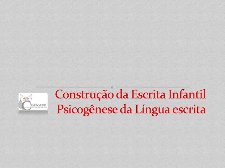 Considerações sobre Educação Infantil e a linguagem: A aprendizagem da linguagem oral e escrita é um dos elementos import...