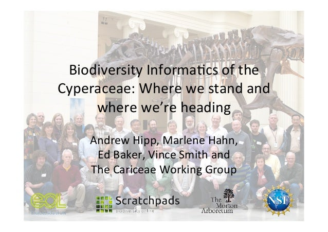 Biodiversity  Informa1cs  of  the   Cyperaceae:  Where  we  stand  and   where  we're  heading   A...