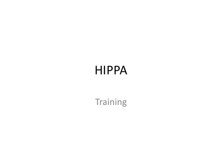 HIPPATraining