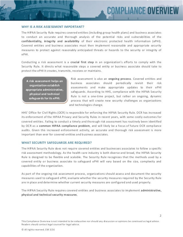 HIPAA Security Risk Assessment  Slide 2