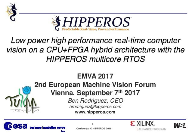 Confidential © HIPPEROS 2016 1 Low power high performance real-time computer vision on a CPU+FPGA hybrid architecture with...