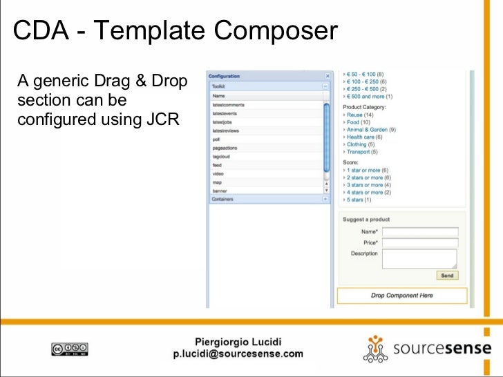 CDA - Template Composer A generic Drag & Drop section can be configured using JCR