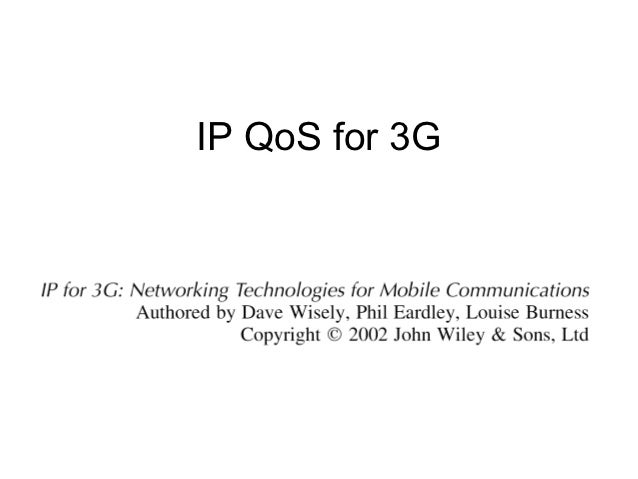 IP QoS for 3G