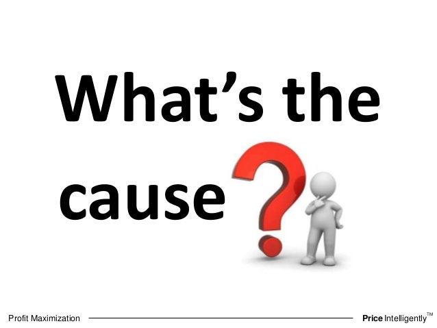 TM  What's the  cause  Profit Maximization PriceIntelligently