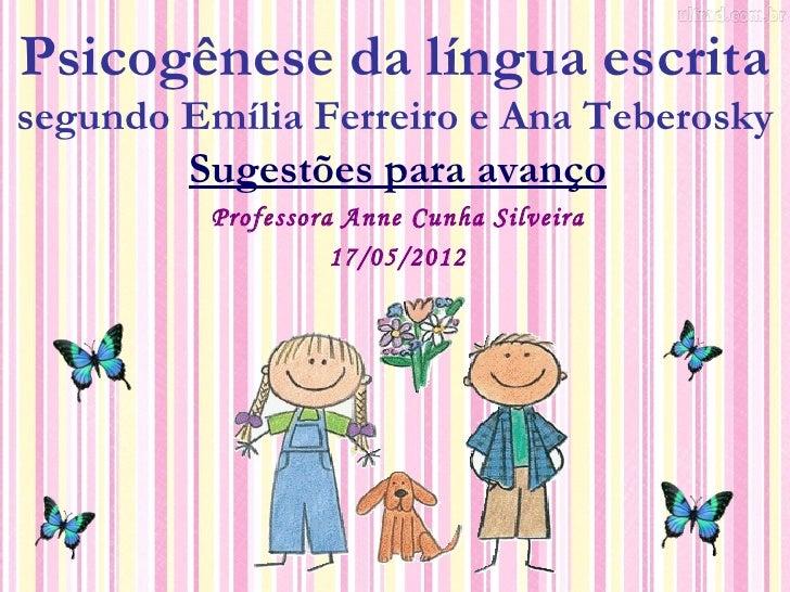 Hipóteses da psicogênese da língua escrita segundo emília Slide 2