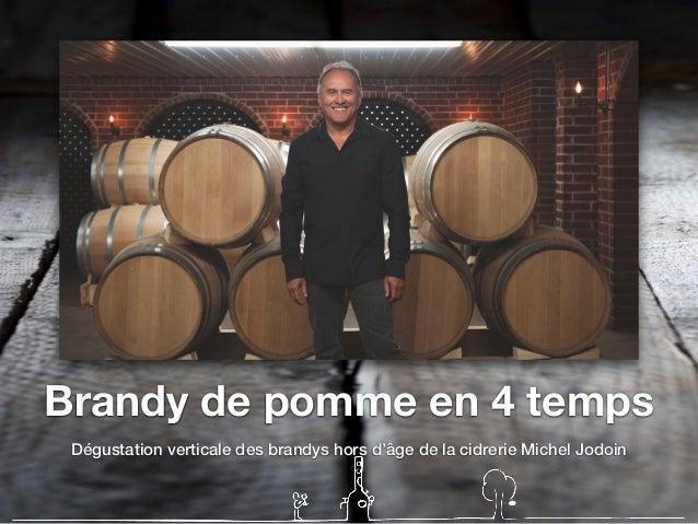 Brandy de pomme en 4 temps Dégustation verticale des brandys hors d'âge de la cidrerie Michel Jodoin