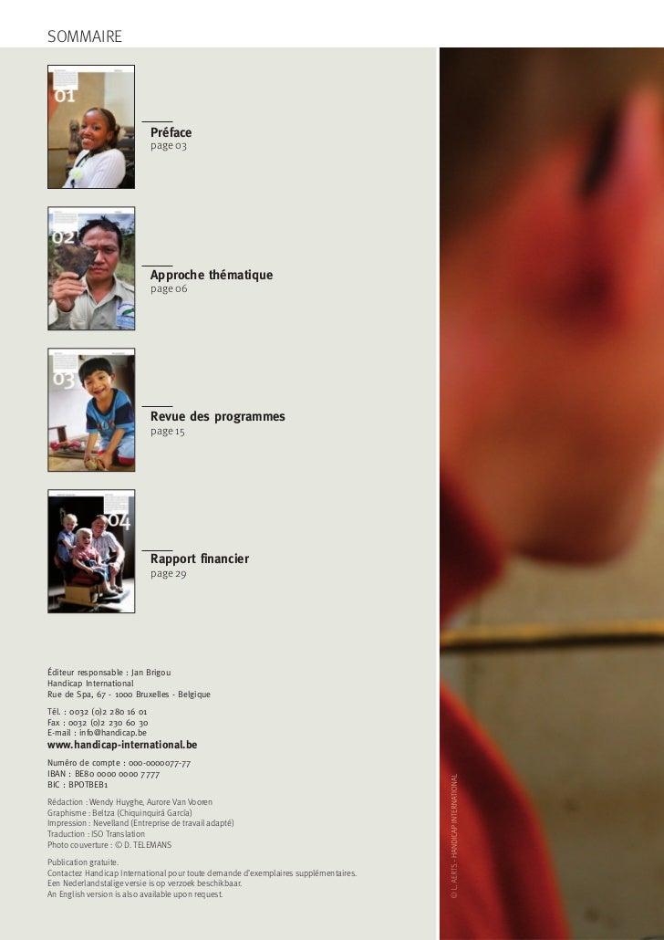 Rapport Annuel Handicap International Slide 2