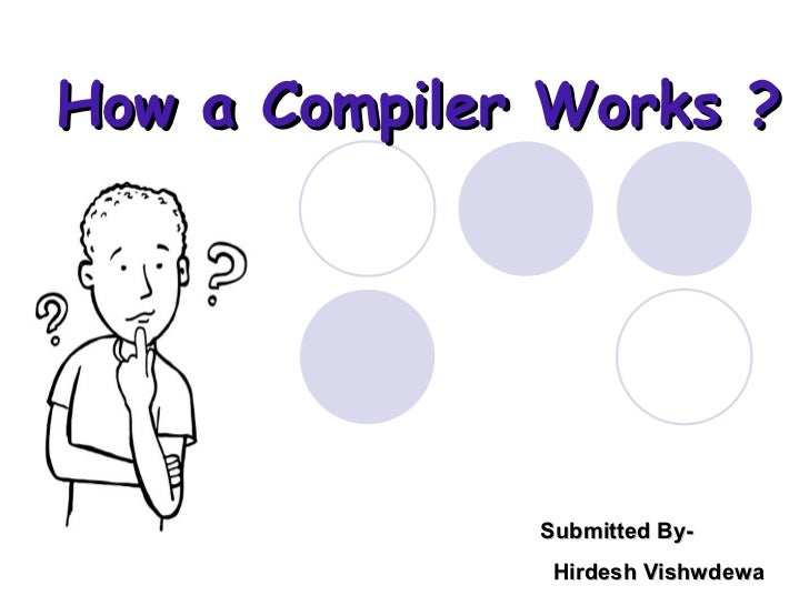 How a Compiler Works ? Submitted By- Hirdesh Vishwdewa