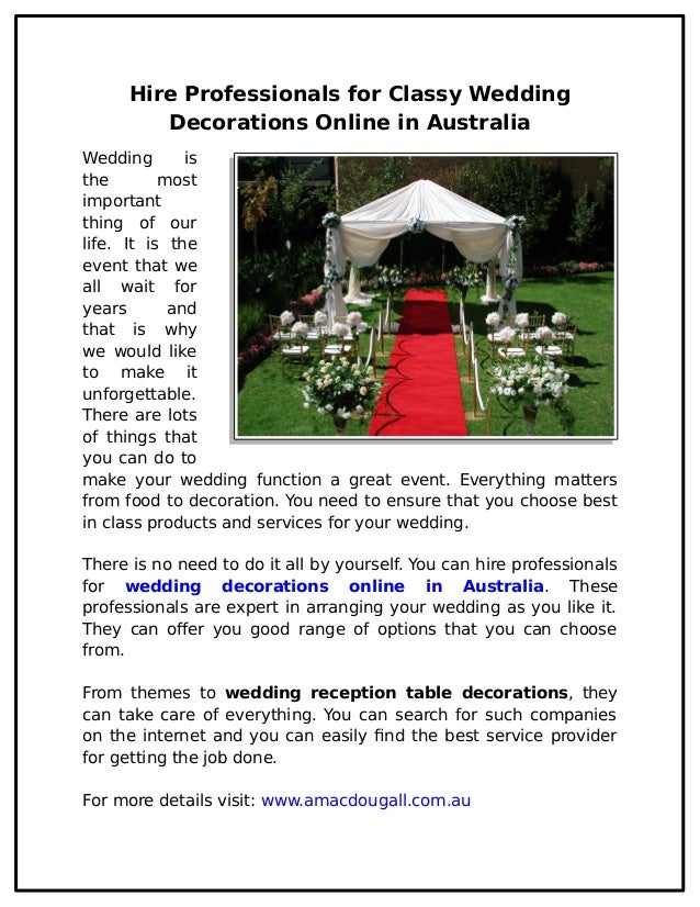Hire professionals for classy wedding decorations online in australia hire professionals for classy wedding decorations online in australia wedding is the most important thing of junglespirit Images