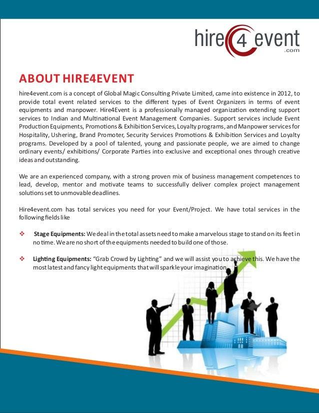 Hire4event.com Slide 3
