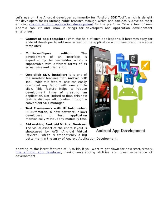 how to develop android app pdf