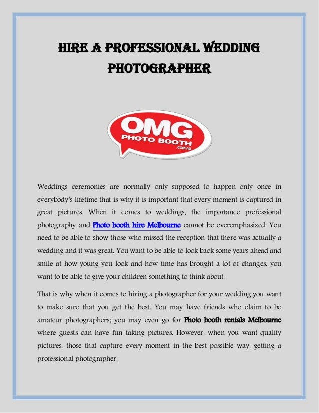 Hire A Photographer >> Hire A Professional Wedding Photographer