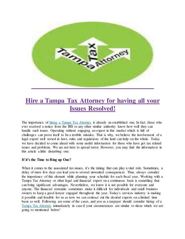 Tax Attorney: Tax Attorney Tampa