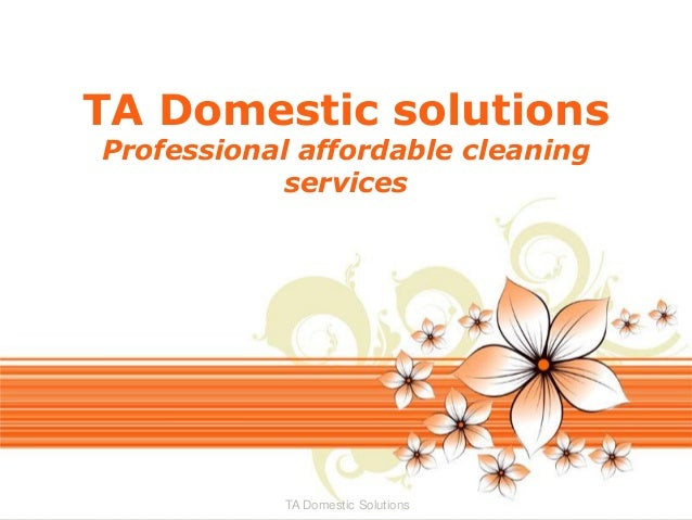 TA Domestic solutions Professional affordable cleaning services  TA Domestic Solutions