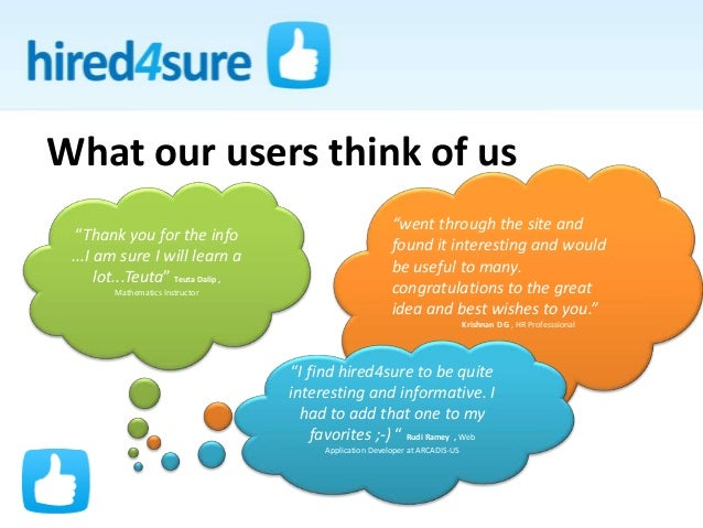 """What our users think of us """"Thank you for the info ...I am sure I will learn a lot...Teuta"""" Teuta Dalip , Mathematics Inst..."""