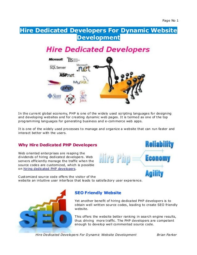 Hire Dedicated Developers For Dynamic Website Development
