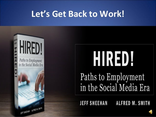 Let's Get Back to Work!