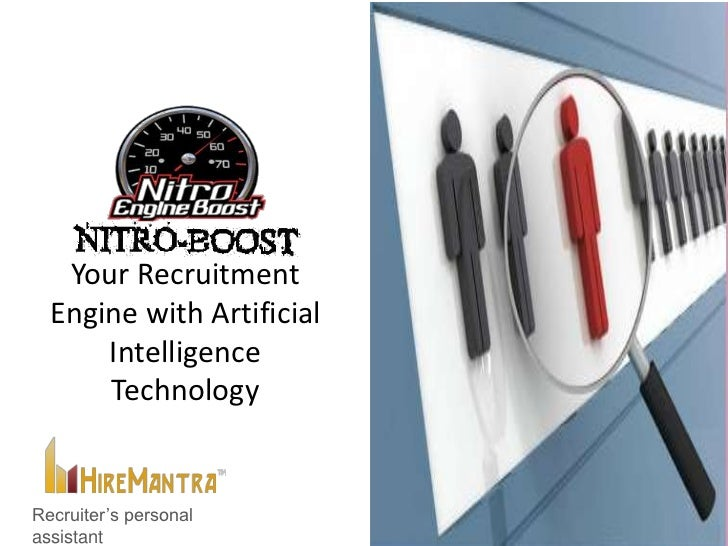 Your Recruitment  Engine with Artificial      Intelligence      TechnologyRecruiter's personalassistant