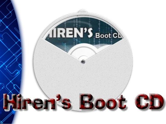 Qué es? es el paquete de herramientas más completo que existe hoy en día. Hiren's Boot CD Podría ser la respuesta de forma...