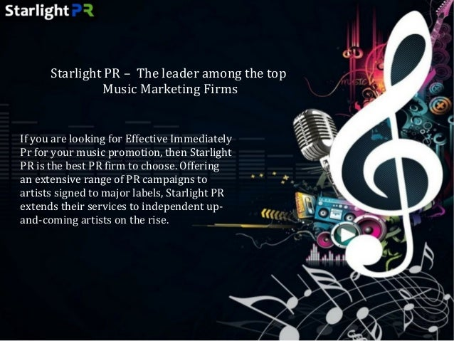Hire one of the Best Music PR Agencies - Starlight PR