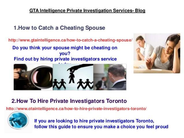 Private investigator toronto cheating