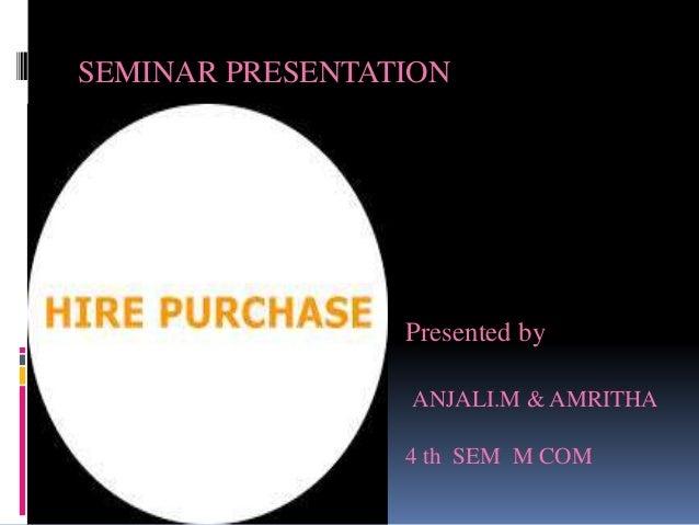 SEMINAR PRESENTATION Presented by ANJALI.M & AMRITHA 4 th SEM M COM