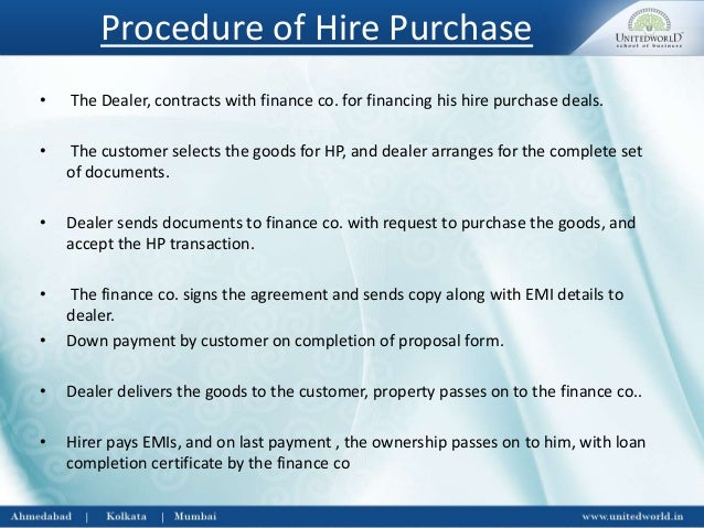 hire purchase agreement Layman's guide to the basics of hire purchase - lease purchase - leasing - what are the benefits.