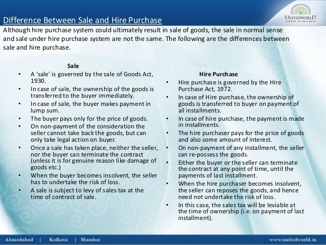 sale and hire purchase agreement