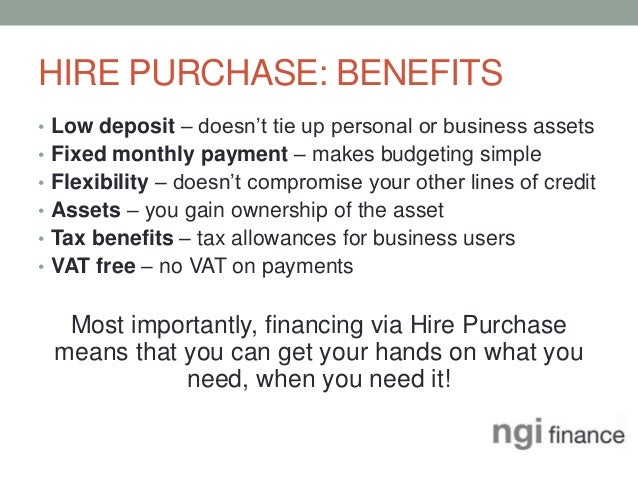 Vehicle Purchase Agreement >> Hire Purchase & Asset Finance - An Overview by NGI