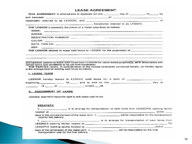 Sample Equipment Lease Agreement Template Equipment Rental