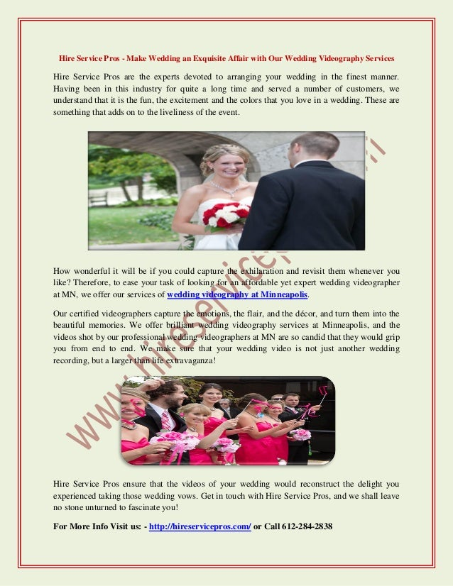 Hire Service Pros Make Wedding An Exquisite Affair With Our Wedding