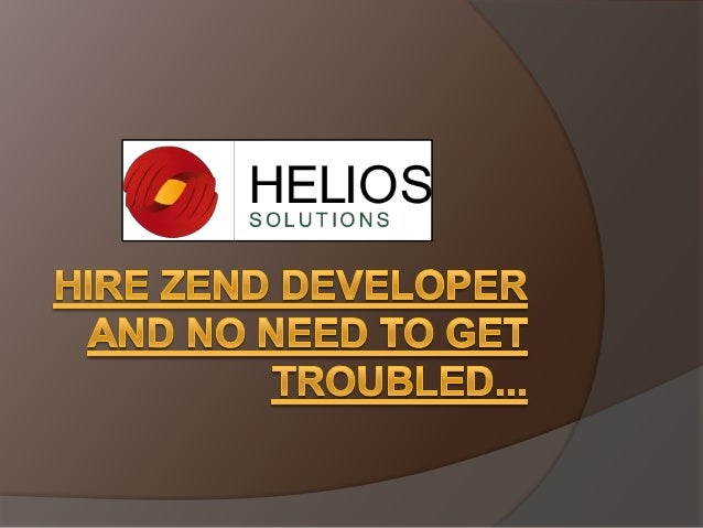 1. The well known open source Zend framework encompasses a versatile design that helps you to simply build impressive net ...