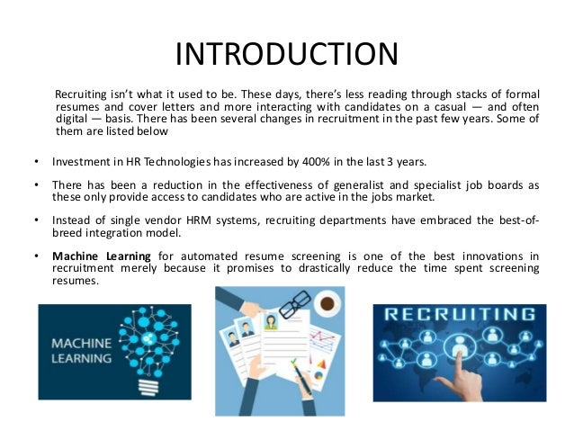 introduction recruiting isnt what it used to be these days theres less - Automated Resume Screening