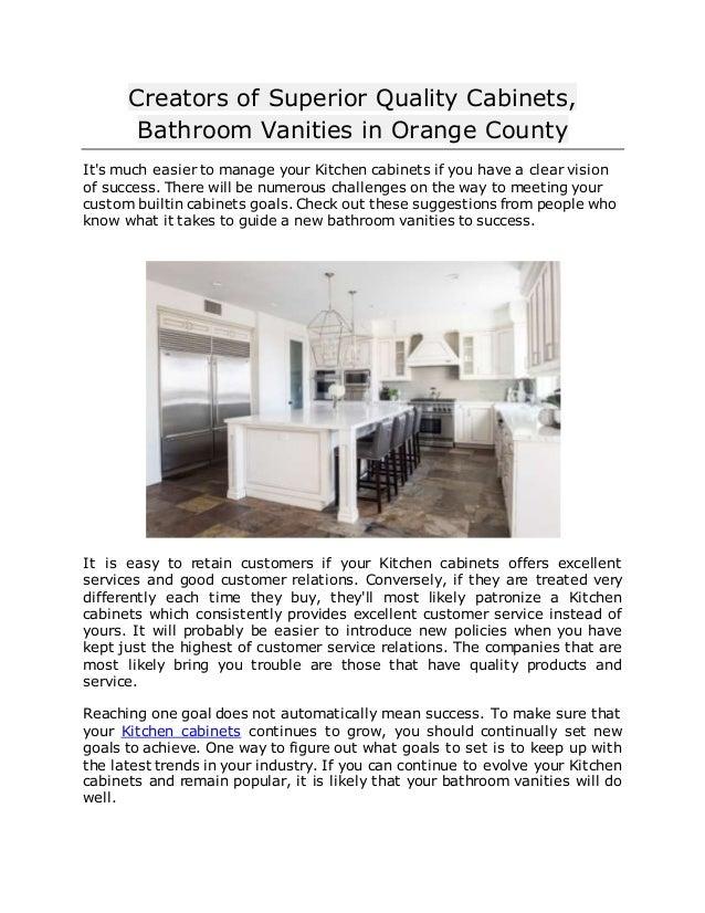 Creators of Superior Quality Cabinets, Bathroom Vanities ...