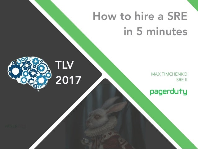 How to hire a SRE in 5 minutes MAX TIMCHENKO SRE II TLV