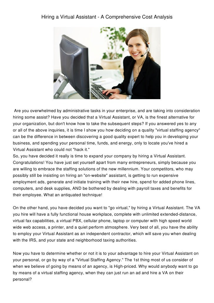 Hiring a Virtual Assistant - A Comprehensive Cost Analysis Are you overwhelmed by administrative tasks in your enterprise,...