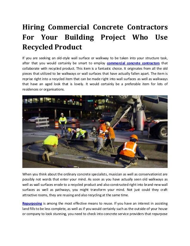 Hiring commercial concrete contractors for your building