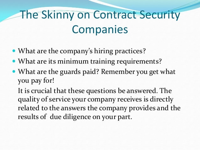 security contract
