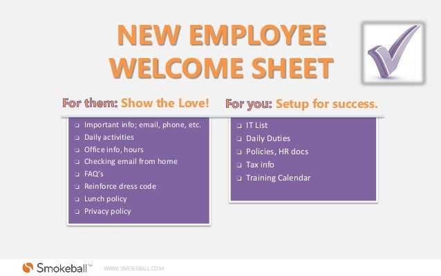 new hire information sheet