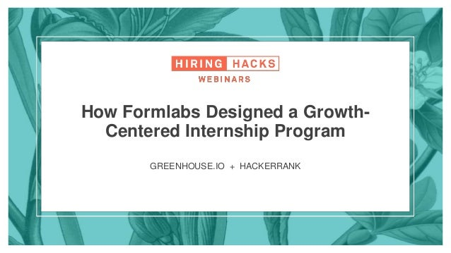 Hiring Hacks: How Formlabs Designed a Growth-Centered