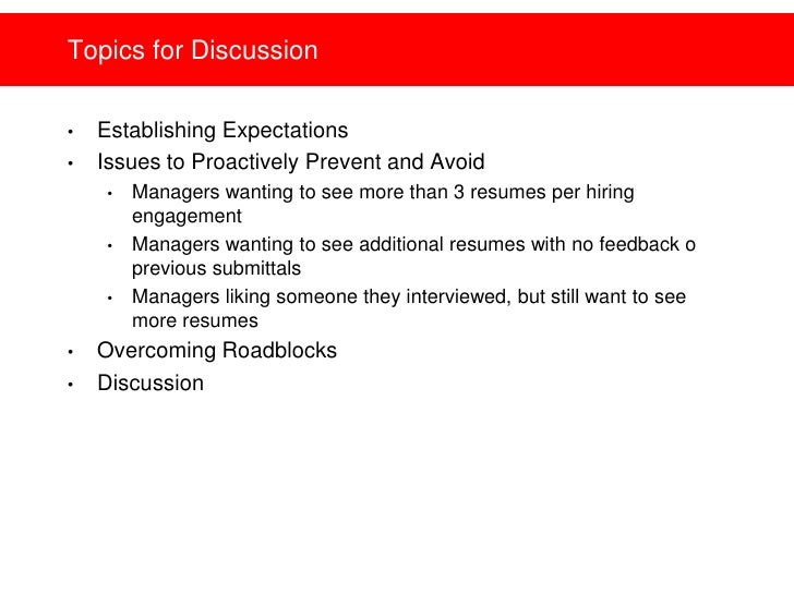 Hiring Manager Expectations   Setting And Building Relationships Slide 2