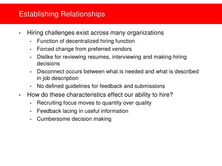 Hiring Manager Expectations   Setting And Building Relationships Slide 3