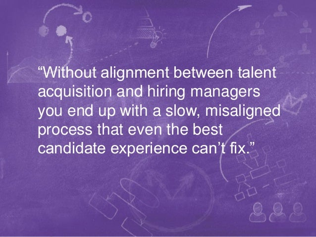 """1WE BECOME YOU™ """"Without alignment between talent acquisition and hiring managers you end up with a slow, misaligned proce..."""