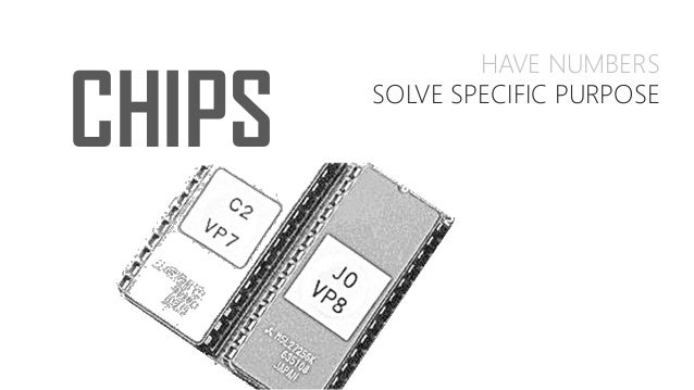CHIPS HAVE NUMBERS SOLVE SPECIFIC PURPOSE DINSTINCTLY FUNCTION ARE UNIQUE